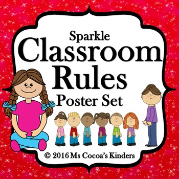 Classroom Rules Poster Set - Sparkle