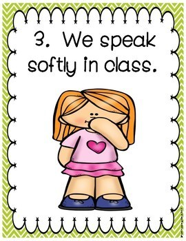 Classroom Rules Poster Signs(Chevron)