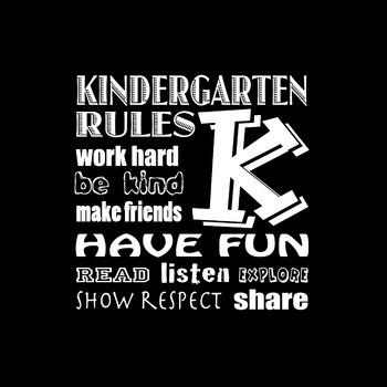 Classroom Rules Poster for Kindergarten