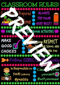 Classroom Rules Poster with Hashtags