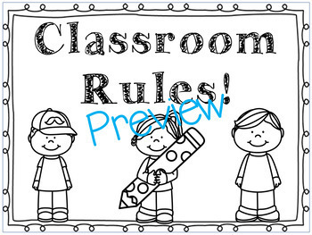 Classroom Rules Posters!