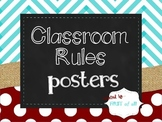 Classroom Rules Posters (Chevron & Burlap)