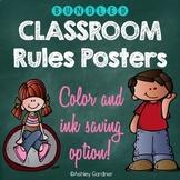 Kindergarten Classroom Rules Posters Bundle {Classroom Rules for Kindergarten}
