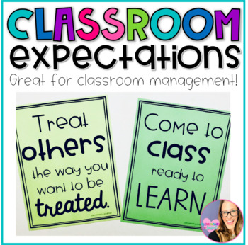 Classroom Rules- Positive Posters