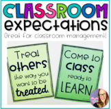 Classroom Expectations- Positive Classroom Posters