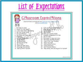 Classroom Management Behavioral System:  Classroom Rules Posters