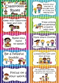 Class Rules Posters - Classroom Rules - Classroom Agreements