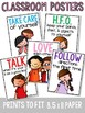 Classroom Rules Posters