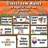 Classroom Rules Posters  APT-001