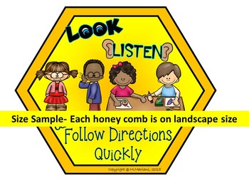Classroom Rules Posters- BEE THEME VERSION- COLOR & LOW INK OPTION INCLUDED