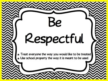 Classroom Rules Posters Based on the 3 R's - Black and White {EDITABLE}
