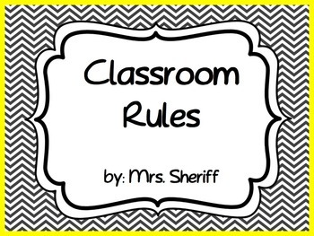 Classroom Rules Posters Based on the 3 R's - Black and Whi