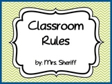 Classroom Rules Posters Based on the 3 R's - Lime Green and Blue {EDITABLE}