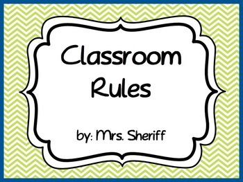Classroom Rules Posters Based on the 3 R's - Lime Green an