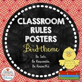 Classroom Rules Posters: Bird Theme