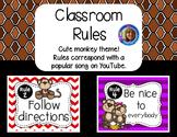 Classroom Rules Posters {Bono the Monkey Theme}
