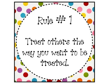 Classroom Rules Posters (Bright Colors)