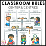 Classroom Rules Posters Centers Centres and Groups