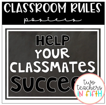 classroom rules posters chalkboard theme