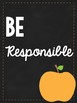 Classroom Rules Posters- Chalkboard and Apple Theme
