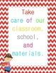 Classroom Rules Posters {Chevron Border}