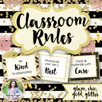 Classroom Rules Posters {Chic & Glam}