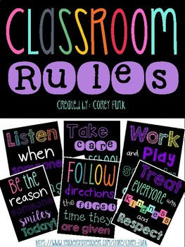 Classroom Rules Posters Classroom Management posters