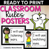 Classroom Rules Posters   Daily Commitment Posters for Con