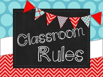 Classroom Rules Posters {Dr. Seuss Style}