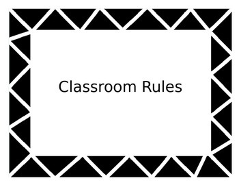 Classroom Rules Posters (EDITABLE)