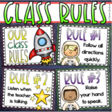 Classroom Rules Posters EDITABLE Back to School Outer Space Theme
