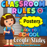 Classroom Rules Posters EDITABLE Google Slides
