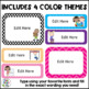 Classroom Rules Posters {Editable~4 themes}