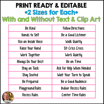 Classroom Rules Posters {Editable~Chevron Theme}