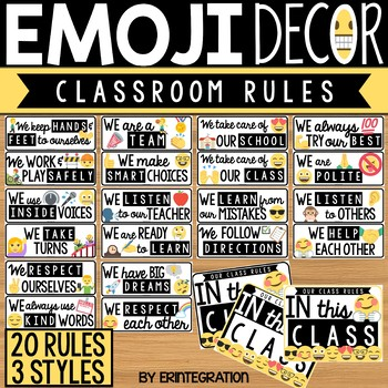 Classroom Rules Posters Emoji Classroom Decor 3260249 on Worksheets For Social Science Grade 5