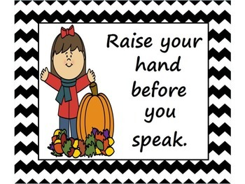 Classroom Rules Posters (Fall / Autumn Themed):
