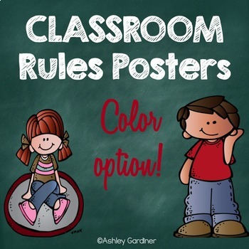 Classroom Rules Posters {Full Color Version}