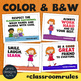 Classroom Rules Posters • Fun and Colorful Class Rules Posters • Hashtags