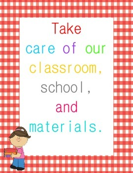 Classroom Rules Posters {Gingham Border}