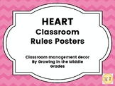 Classroom Rules Posters- H.E.A.R.T.