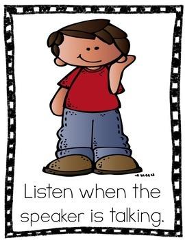 Kindergarten Classroom Rules Posters {Classroom Rules for Kindergarten}