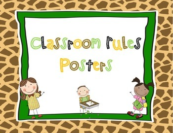 Classroom Rules Posters Jungle Themed