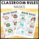 Classroom Rules Posters Mask Wearing