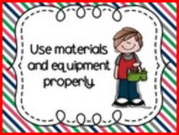 Classroom Rules Posters (Melonheadz)