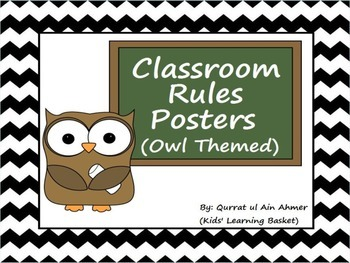 Classroom Rules Posters (Owl Themed):