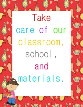 Classroom Rules Posters {Paisley Border}