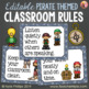 Pirate Classroom Rules - Editable Posters