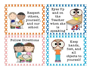Classroom Rules Posters {Polka Dot Backgrounds}
