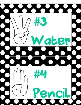 Classroom Rules Posters - Polka Dot Border