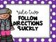 Classroom Rules Posters {Polka Dot Theme}